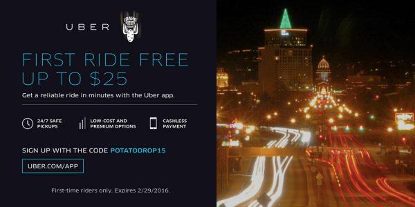 Uber Potato Drop Coupon