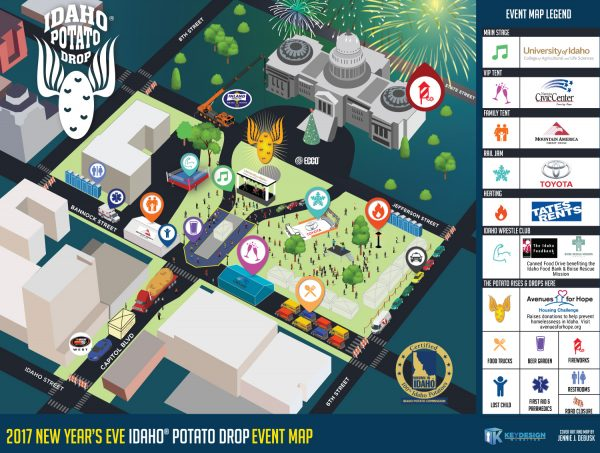 Idaho Potato Drop Map 2017