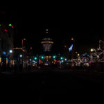 Christmas lights in downtown Boise