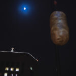 Potato dropping with moon