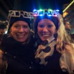 Girls with 2015 headband