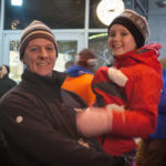 Father and Son at the Potato Drop