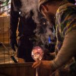Glass Blower Zion Warne at the Idaho Potato Drop