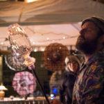 Glass blower Zion Warne