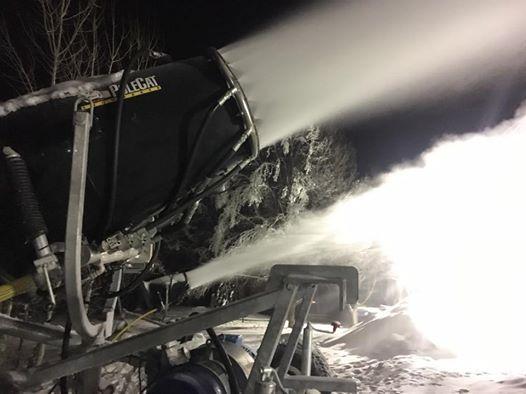 Ryan Neptune blowing snow